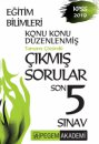 2019 KPSS Eğitim Bilimleri Konu Konu Düzenlenmiş Tamamı Çözümlü  Çıkmış Sorular Son 5 Sınav Pegem Yayınları