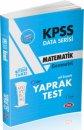 2019 KPSS Matematik Çek Kopart Yaprak Test Data Yayınları