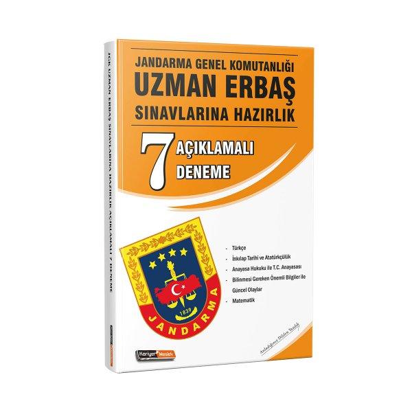 Jandarma Genel Komutanlığı Uzman Erbaş Sınavlarına Açıklamalı 7 Deneme Sınavı Kariyer Meslek Yayınları