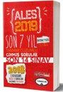 2019 Ales Son 7 Yıl Tamamı Çözümlü Çıkmış Sorular 18 Kasım Ales-3 ekli Yediiklim Yayınları