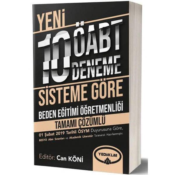 2019 ÖABT Beden Eğitimi Öğretmenliği Tamamı Çözümlü 10 Deneme Can Köni Yediiklim Yayınları