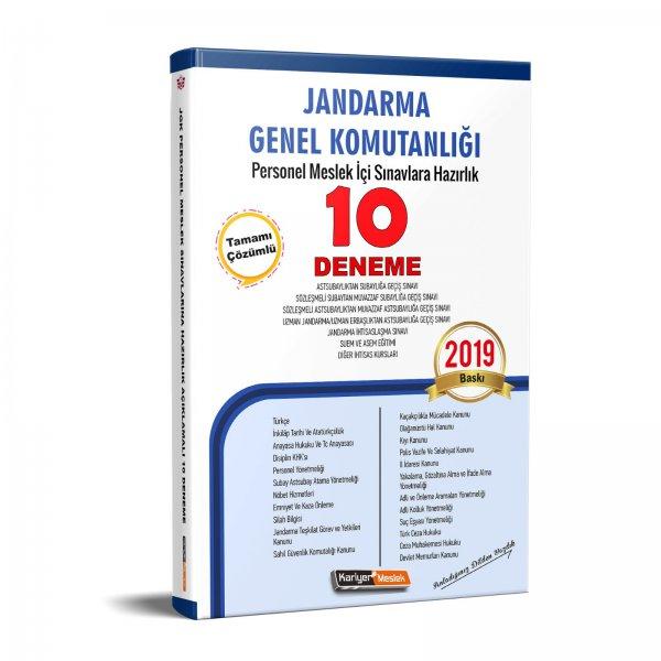 Jandarma Genel Komutanlığı Personel Meslek İçi Sınavlarına Hazırlık Açıklamalı 10 Deneme Sınavı  Kariyer Meslek Yayınları