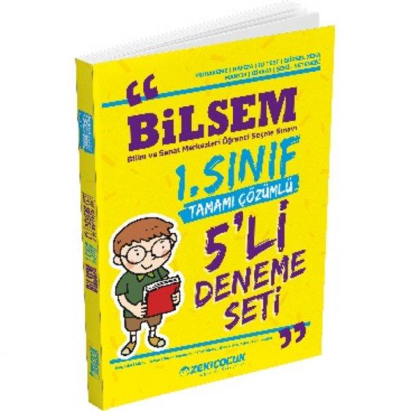 """Bilsem 1. Sınıf Tamamı Çözümlü 5"""" li Deneme Seti Zeki Çocuk Yayınları"""