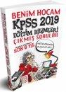 2019 KPSS Eğitim Bilimleri Son 6 Yıl Çıkmış Sorular Benim Hocam Yayınları