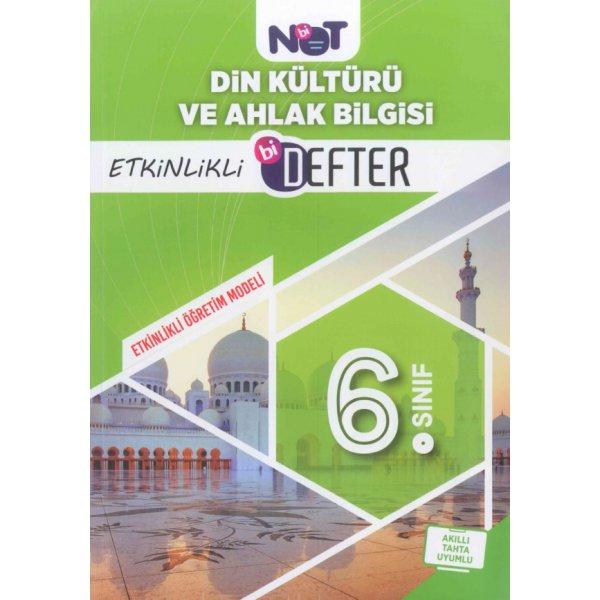 6. Sınıf Din Kültürü ve Ahlak Bilgisi Etkinlikli Bi Defter BiNot Yayınları
