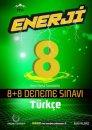 8. Sınıf Türkçe Enerji 8+8 Deneme Sınavı Palme Yayınları