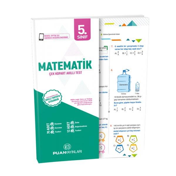 5. Sınıf Matematik Akıllı Test Puan Yayınları