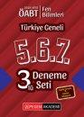 2019 ÖABT Fen Bilimleri Fen ve Teknoloji Öğretmenliği Türkiye Geneli Deneme (5.6.7) 3 lü Deneme Seti Pegem Yayınları