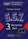 2019 ÖABT Din Kültürü ve Ahlak Bilgisi Öğretmenliği Türkiye Geneli Deneme (5.6.7) 3 lü Deneme Seti Pegem Yayınları