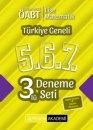 2019 ÖABT Lise Matematik Öğretmenliği Türkiye Geneli Deneme (5.6.7) 3 lü Deneme Seti Pegem Yayınları