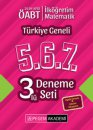 2019 ÖABT İlköğretim Matematik Öğretmenliği Türkiye Geneli Deneme (5.6.7) 3 lü Deneme Seti Pegem Yayınları