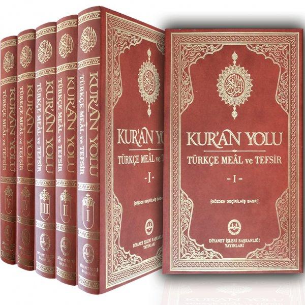 Kuran Yolu Türkçe Meâl ve Tefsir 5 Cilt Diyanet İşleri Başkanlığı Yayınları