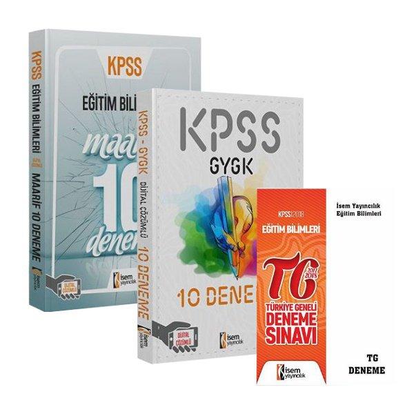 2019 KPSS Öğretmen Adaylarına Özel GY-GK ve Eğitim Bilimleri 10+10+1 Deneme Seti TG Deneme Hediyeli İsem Yayınları