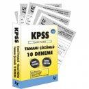2019 KPSS Genel Yetenek Genel Kültür Tamamı Çözümlü 10 Deneme 4T Yayınevi