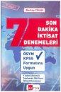 2019 KPSS Son Dakika İktsat Denemeleri Akfon Yayınları