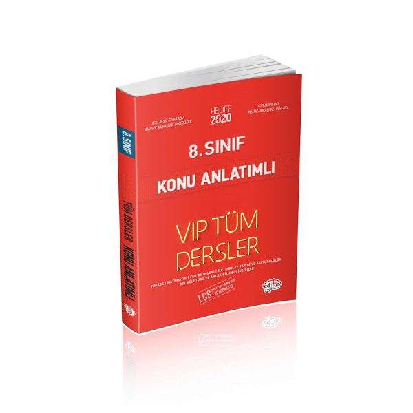8. Sınıf LGS VIP Tüm Dersler Konu Anlatımlı Kitap Editör Yayınları Hedef 2020