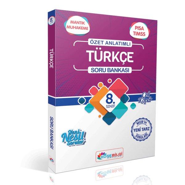 8. Sınıf Türkçe Özet Bilgili Soru Bankası KöşeBilgi Yayınları