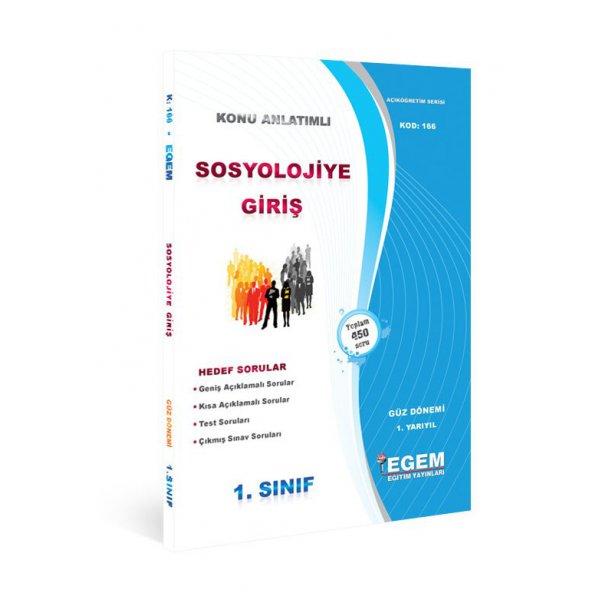 Egem Yayınları Güz Dönemi Sosyolojiye Giriş 1. Sınıf 1.Yarıyıl Konu Anlatımlı Soru Bankası