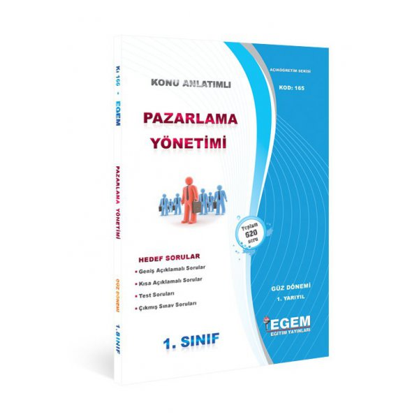 Egem Yayınları Açıköğretim Güz Dönemi Pazarlama Yönetimi 1. Sınıf Konu Anlatımı
