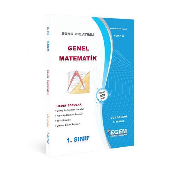 Egem Yayınları Açıköğretim Genel Matematik-I Güz Dönemi Konu Anlatımlı Soru Bankası