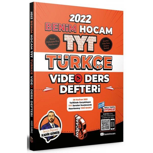 2022 TYT Türkçe Video Ders Defteri Benim Hocam Yayınları