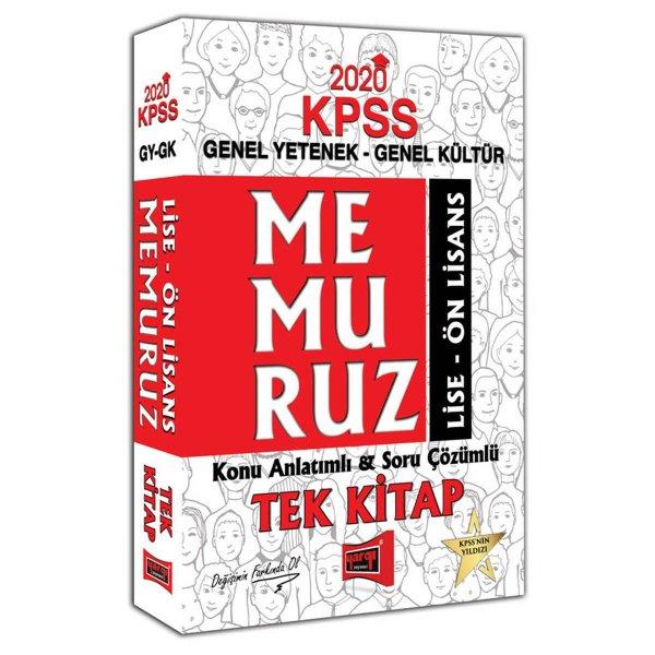 2020 KPSS Memuruz Lise - Ön Lisans Genel Yetenek Genel Kültür Konu Anlatımlı Soru Çözümlü Tek Kitap Yargı Yayınları