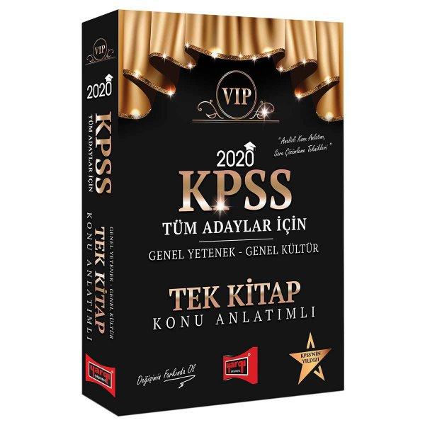 2020 KPSS VIP Tüm Adaylar İçin Genel Yetenek Genel Kültür Konu Anlatımlı Tek Kitap Yargı Yayınları