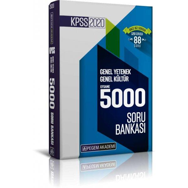 2020 KPSS Genel Yetenek Genel Kültür Efsane 5000 Soru Bankası Pegem Yayınları