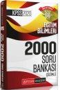 2020 KPSS Eğitim Bilimleri Çözümlü Efsane 2000 Soru Bankası Pegem Yayınları
