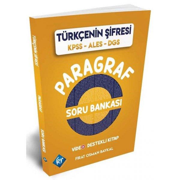 2020 KPSS ALES DGS Türkçenin Şifresi Paragraf Soru Bankası KR Akademi