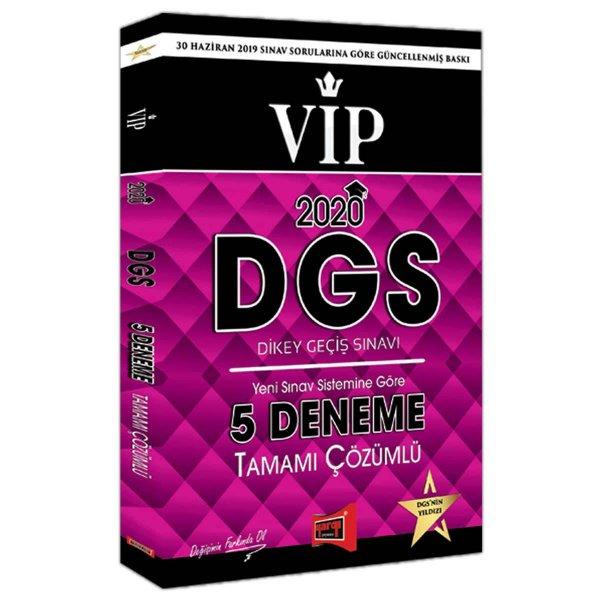 2020 DGS VIP Yeni Sınav Sistemine Göre Tamamı Çözümlü 5 Deneme Yargı Yayınları