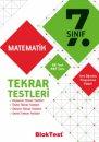 7. Sınıf Matematik Tekrar Testleri Bloktest Yayınları