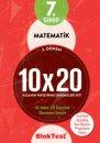 7.Sınıf Bloktest 2.Dönem Matematik 10x20 Kazanım Pekiştirme Denemeleri Seti Bloktest Yayınları