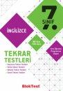 7.Sınıf İngilizce Tekrar Testleri Bloktest Yayınları