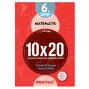 6. Sınıf 2. Dönem Matematik 10x20 Kazanım Pekiştirme Denemeleri Seti Blok Test Yayınları