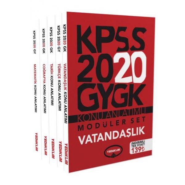 2020 KPSS Genel Kültür Genel Yetenek Konu Anlatımlı Modüler Set Yediiklim Yayınları