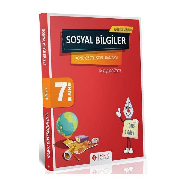 7. Sınıf Sosyal Bilgiler Konu Özetli Soru Bankası Seti Sonuç Yayınları
