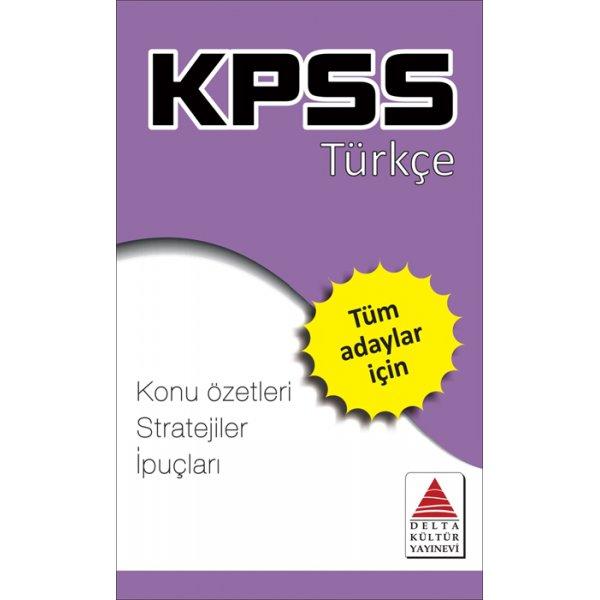 KPSS Türkçe Strateji Kartları Delta Kültür Yayınları