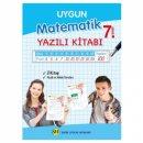 7. Sınıf Matematik Yazılı Kitabı Sadık Uygun Yayınları