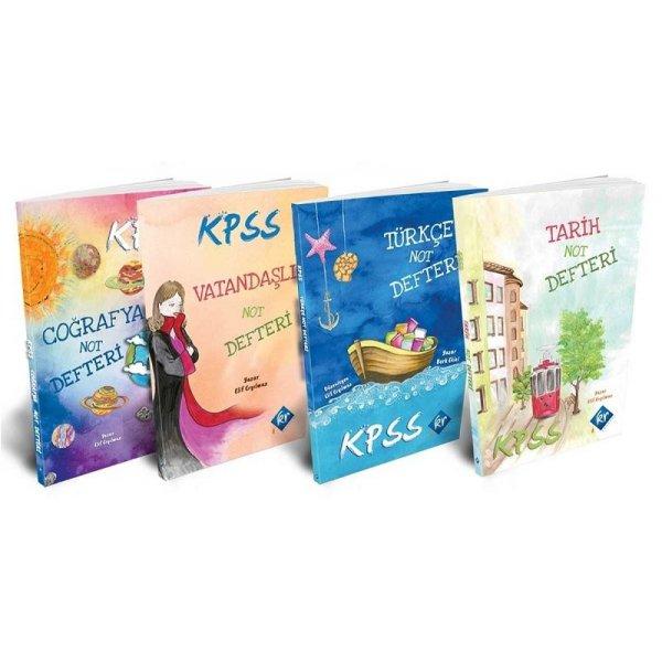 2020 KPSS Tarih-Coğrafya-Vatandaşlık-Türkçe Not Defteri Seti KR Akademi Yayınları