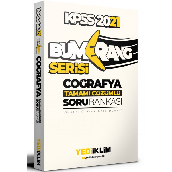 2021 KPSS Bumerang Coğrafya Tamamı Çözümlü Soru Bankası Yediiklim Yayınları