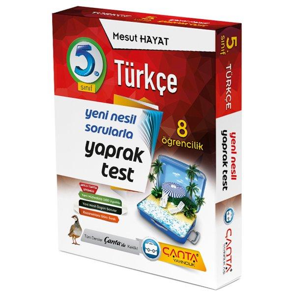 5. Sınıf Türkçe 8 Öğrencilik Kutu Yaprak Test Çanta Yayınları