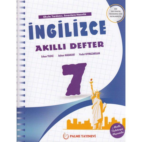 7. Sınıf İngilizce Akıllı Defter Palme Yayınları