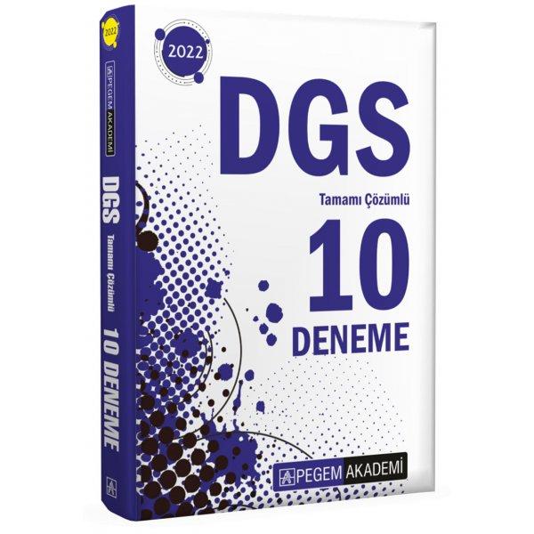 2022 DGS Tamamı Çözümlü 10 Deneme Pegem Yayınları