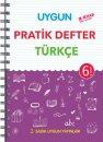 6. Sınıf Pratik Defter Türkçe Sadık Uygun Yayınları
