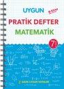7. Sınıf Matematik Pratik Defter Sadık Uygun Yayınları