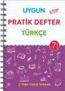 7. Sınıf Türkçe Pratik Defter Sadık Uygun Yayınları