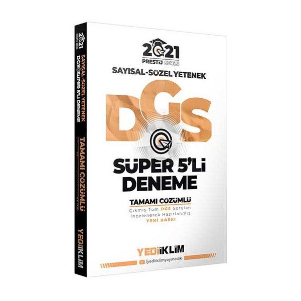 Yediiklim Yayınları 2021 Prestij Serisi DGS Tamamı Çözümlü Süper 5'li Deneme