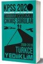 2020 KPSS Genel Yetenek Türkçe Tamamı Çözümlü Konularına Göre Çıkmış Sorular Yediiklim Yayınları