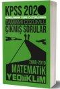 2020 KPSS Genel Yetenek Matematik Tamamı Çözümlü Konularına Göre Çıkmış Sorular Yediiklim Yayınları